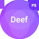 Deef Sass App Landing PSD - ThemeForest Item for Sale