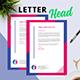 Minimal Geometric Letterhead - GraphicRiver Item for Sale