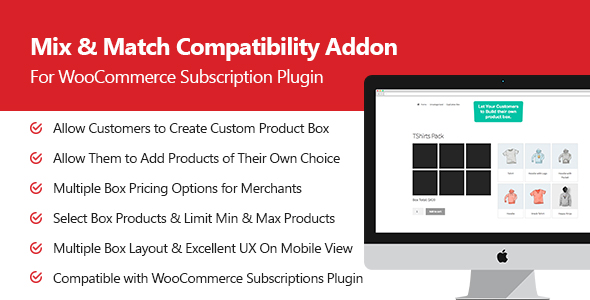 Mix & Match Pro Add-on for Subscription Plugin - CodeCanyon Item for Sale