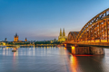 The river Rhine with the famous skyline of Cologne - PhotoDune Item for Sale