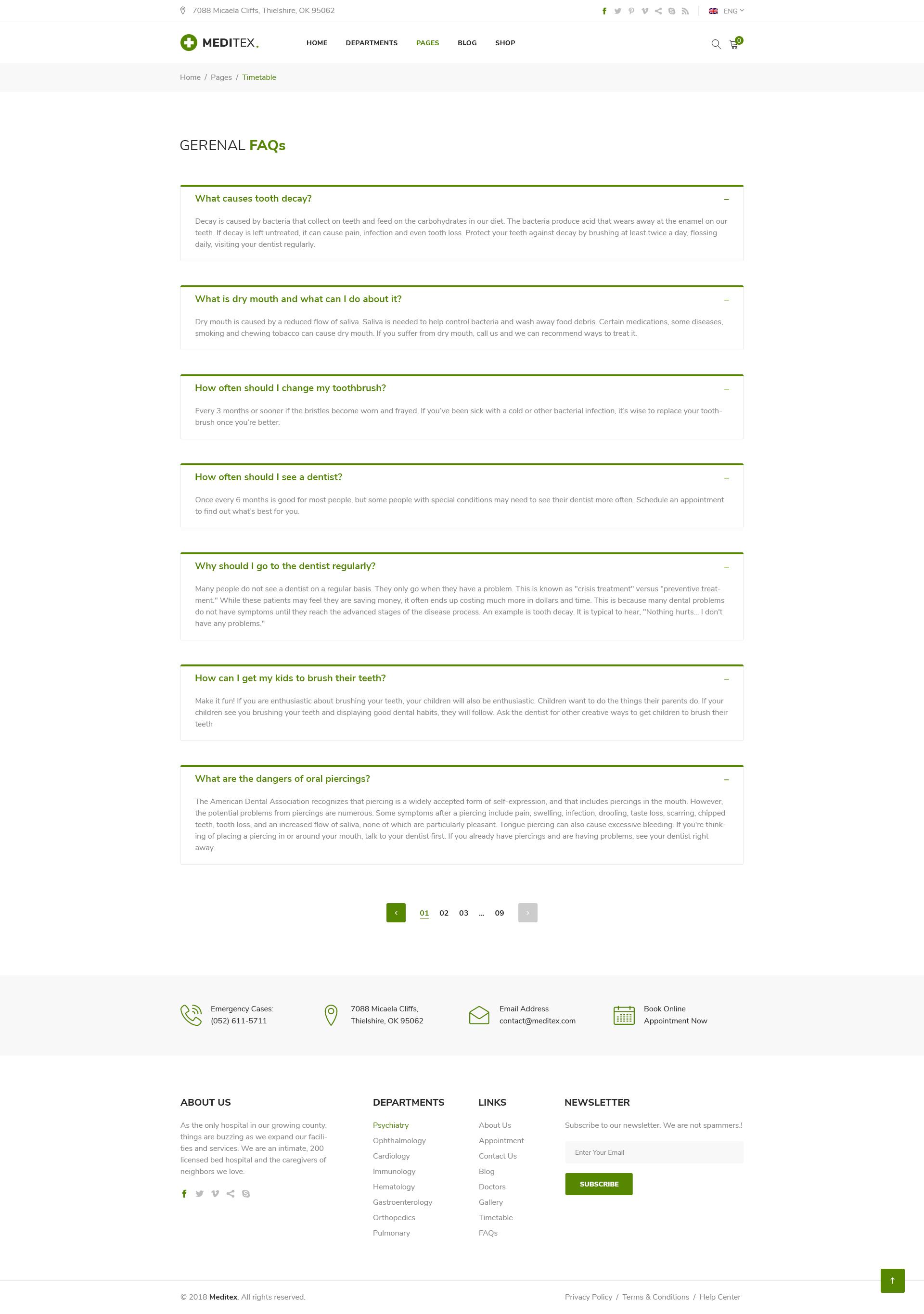 Meditex | Health, Medical & Doctor PSD Template