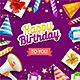Realistic Detailed Happy Birthday Banner Card - GraphicRiver Item for Sale