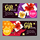 Gift Banner Horizontal Set with Realistic Elements - GraphicRiver Item for Sale