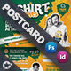 T-Shirt Print Postcard Templates - GraphicRiver Item for Sale