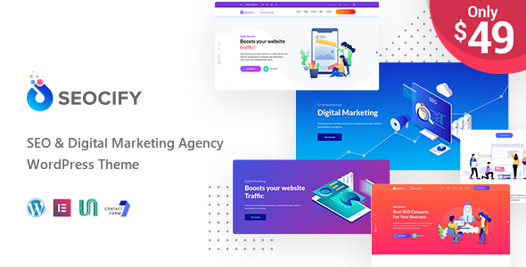 Seocify - SEO And Digital Marketing Agency WordPress Theme - Marketing Corporate