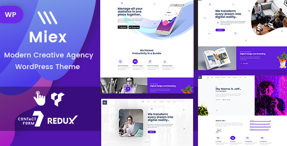 Miex - One Page Parallax WordPress Theme - Portfolio Creative