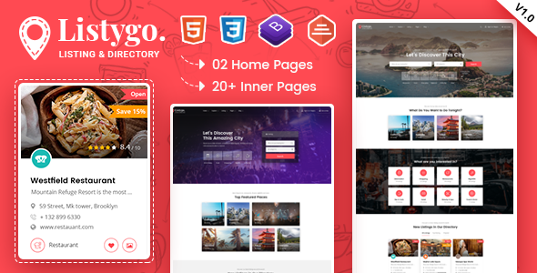 Listygo - Directory & Listing Bootstrap 4 Template