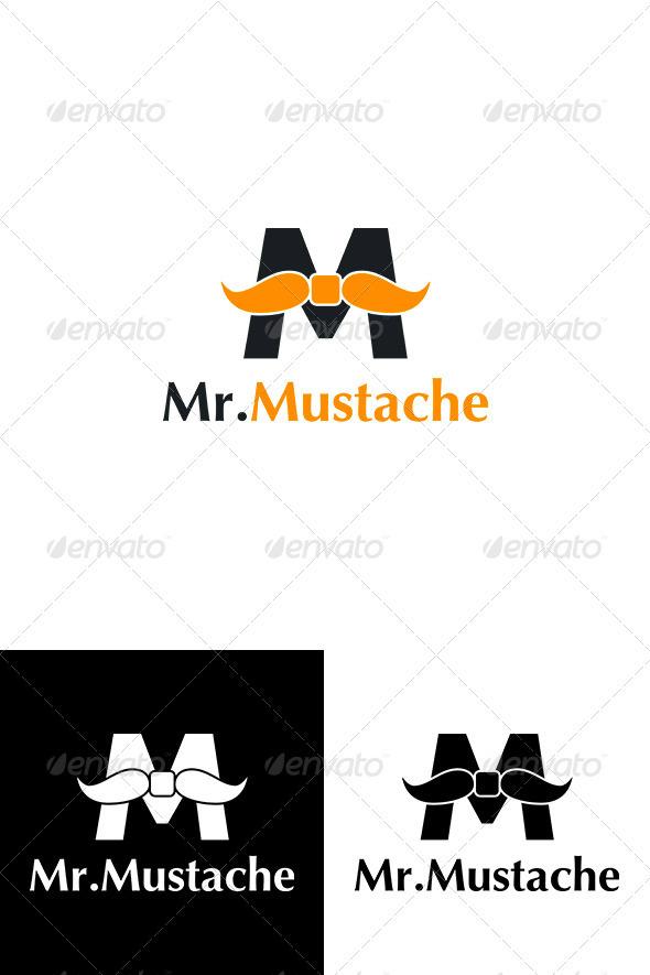 "Creative Letter ""M"" Logo - Mr.Mustache - Letters Logo Templates"