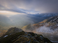Dawn between mists and low clouds on the summit - PhotoDune Item for Sale
