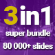 3in1 Super Bundle Powerpoint Presentation Templates - GraphicRiver Item for Sale