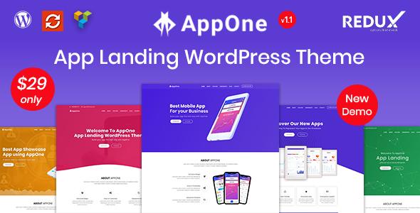 AppOne – App Landing WordPress Theme Free Download