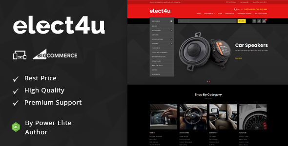 Elect4u - Multipurpose Stencil BigCommerce Theme