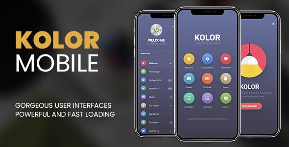Kolor Mobile | Mobile Template - Mobile Site Templates