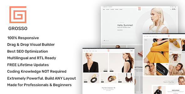 Grosso Fashion - Modern WooCommerce theme for the Fashion Industry - WooCommerce eCommerce