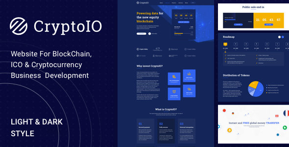 CryptoIO - ICO & Cryptocurrency WordPress Theme