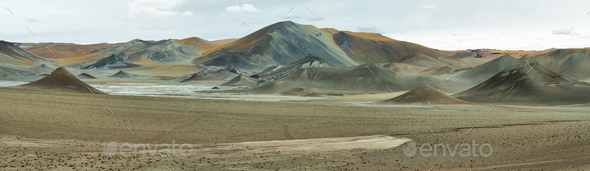 Curious pyramidal formations in Sico Pass - Stock Photo - Images