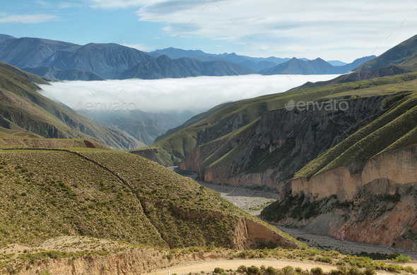 Views from route 13 on its way to Iruya - Stock Photo - Images