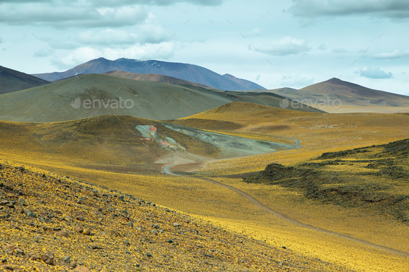 View of mountains in Sico Pass - Stock Photo - Images