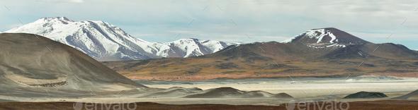"""Aguas calientes""  or ""Piedras rojas"" salt Lake in Sico Pass - Stock Photo - Images"