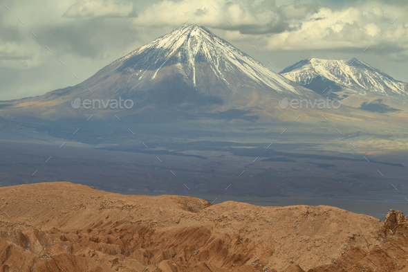 Desert landscape of Valley of Mars - Stock Photo - Images
