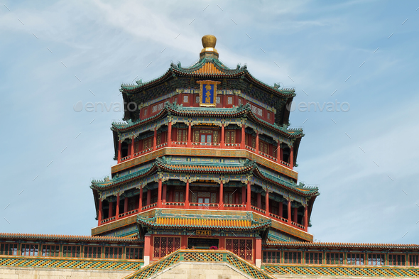 Tower of Buddhist Incense in Summer Palace - Stock Photo - Images