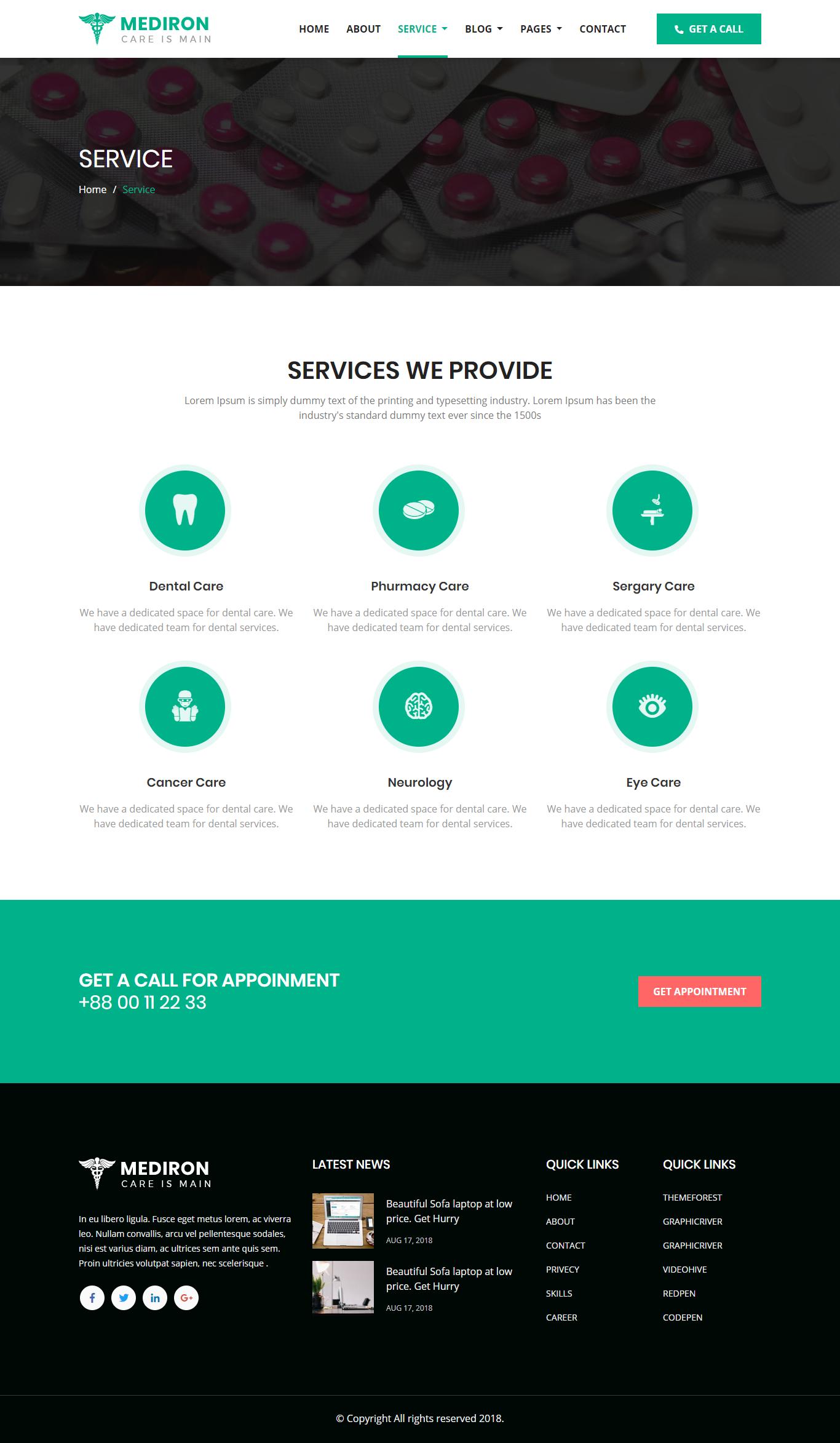 Mediflex - Medical Doctor & Health Care HTML Template