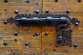 Ancient door with forged metal lock - PhotoDune Item for Sale
