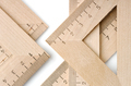 Group of wooden rulers - PhotoDune Item for Sale