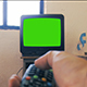 Watching Old TV Green Screen. - VideoHive Item for Sale