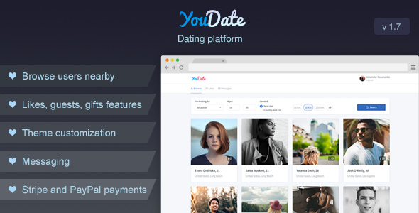 YouDate - Dating Script - CodeCanyon Item for Sale