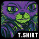 Independent Cat T-Shirt Design