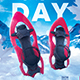 Winter Camping Flyer Snowshoeing Poster Outdoor Hiking Template - GraphicRiver Item for Sale