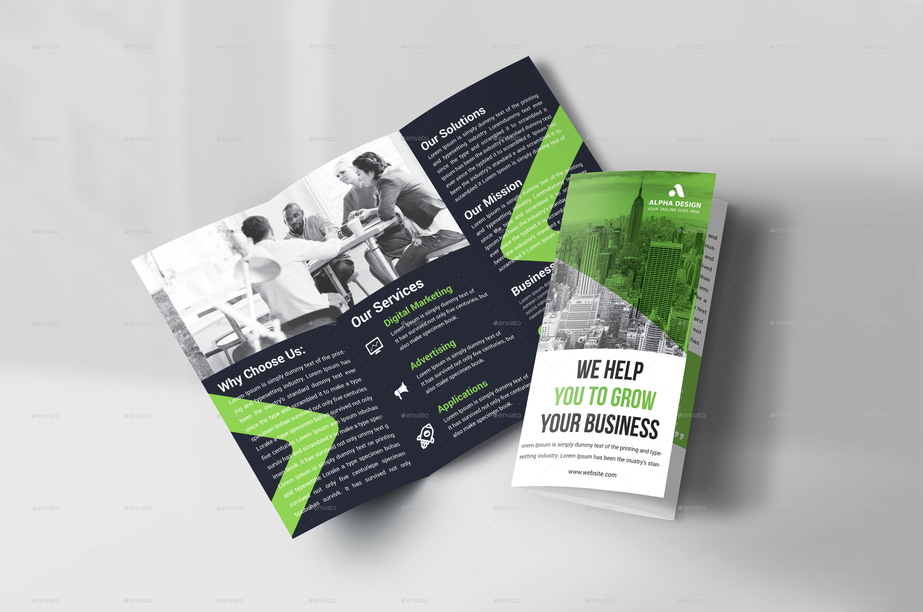 corporate tri fold brochure free psd template by.html