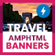 Travel & Vacation Animated AMPHTML Banners (GWD, AMPHTML) - CodeCanyon Item for Sale