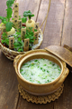 Nanakusagayu, rice porridge with seven herbs, Japanese traditional custom - PhotoDune Item for Sale