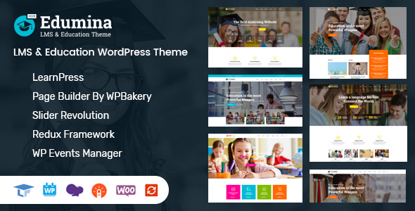 Edumina – LMS & Education WordPress Theme Free Download