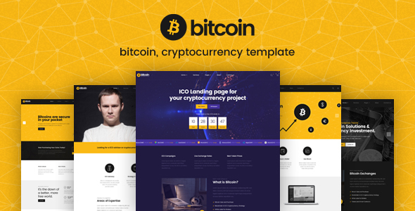 Bitcoin - ICO and Cryptocurrency PSD Template - Business Corporate