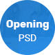 Opening - Landing page PSD Template - ThemeForest Item for Sale