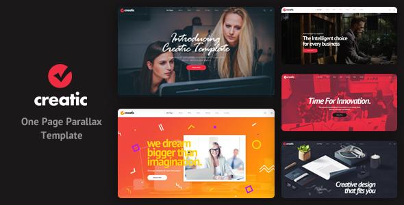 Creatic - One Page Creative Parallax Template - Creative PSD Templates