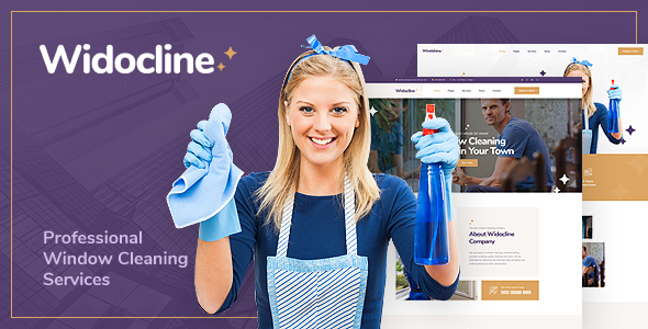 Widocline - Professional Window Cleaning Services PSD Template - Business Corporate
