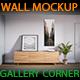 Art Wall Mockup - Gallery Corner vol.1 - GraphicRiver Item for Sale