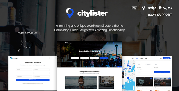 CityLister - Local Listings & Directory WordPress Theme - Directory & Listings Corporate