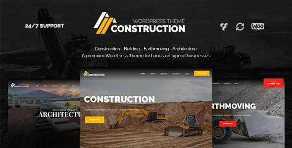 Construction – Building & Architecture WordPress Theme - Business Corporate