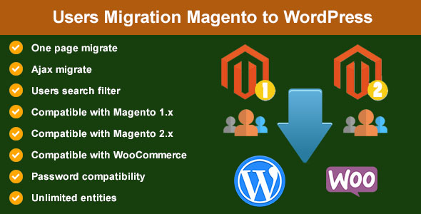 Users Migration from Magento to WordPress - CodeCanyon Item for Sale