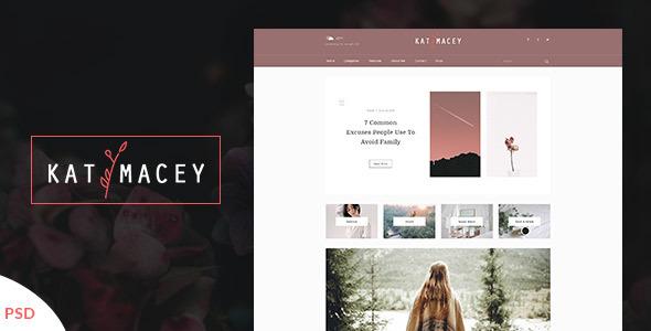Katymacey – Personal Blog PSD Template