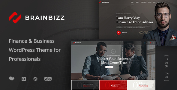 BrainBizz - Finance & Business WordPress Theme - Business Corporate