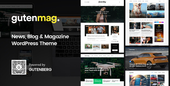 GutenMag, WordPress Theme for Magazine and Blog