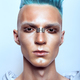 Profile of a handsome man with blue hair - PhotoDune Item for Sale