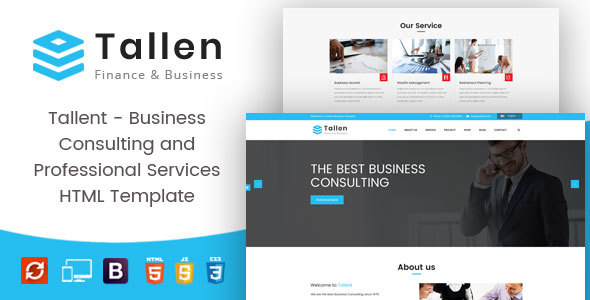 Tallent - Business Consulting and Professional Services HTML Template