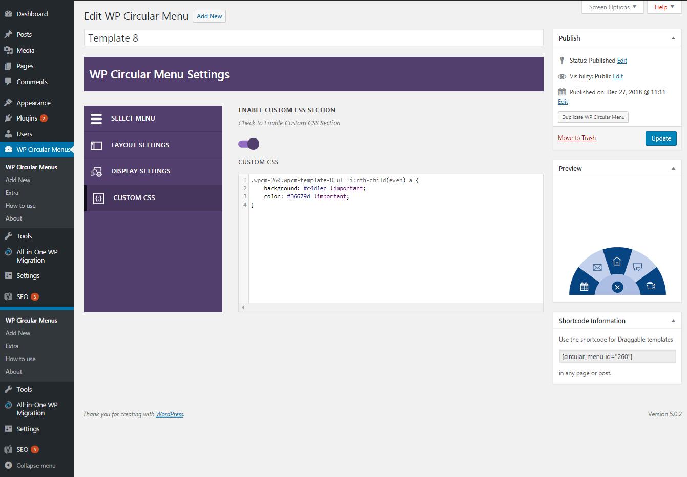 WP Circular Menu - Responsive Circular Menu Plugin for WordPress
